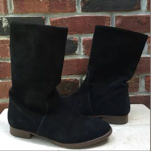 J Crew Slouchy Flat Boots SZ 6.5 Ankle Suede RARE